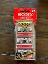 Sony Microcassette 60 Min. 3 Pack Original Sealed - $11.87