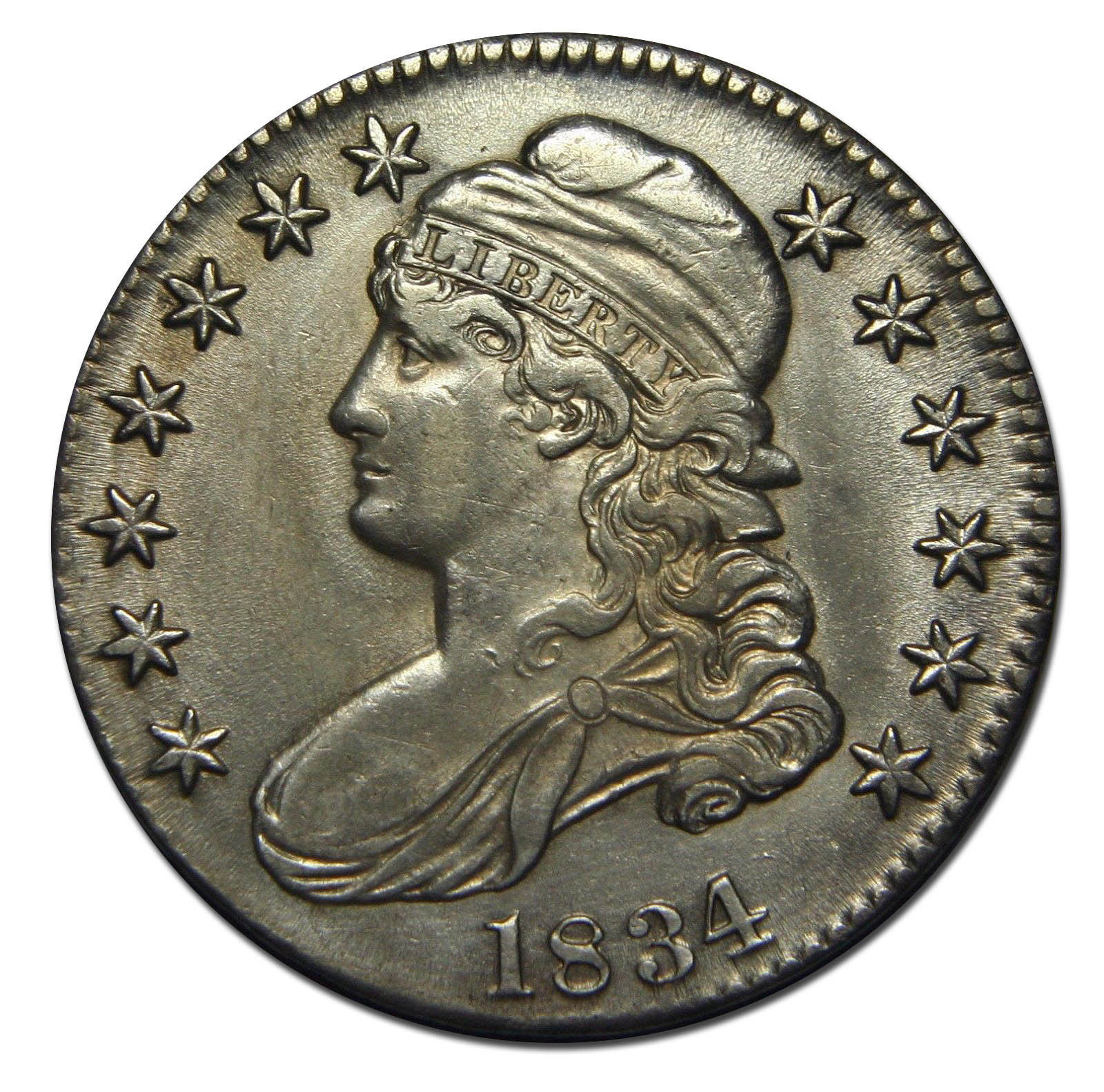 1834 Capped Bust Half Dollar 50¢ Coin Lot# MZ 2686