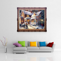 40*30cm 5D Diamond Christmas Villa Of Rhinestones Gingerbread House DIY ... - $20.00