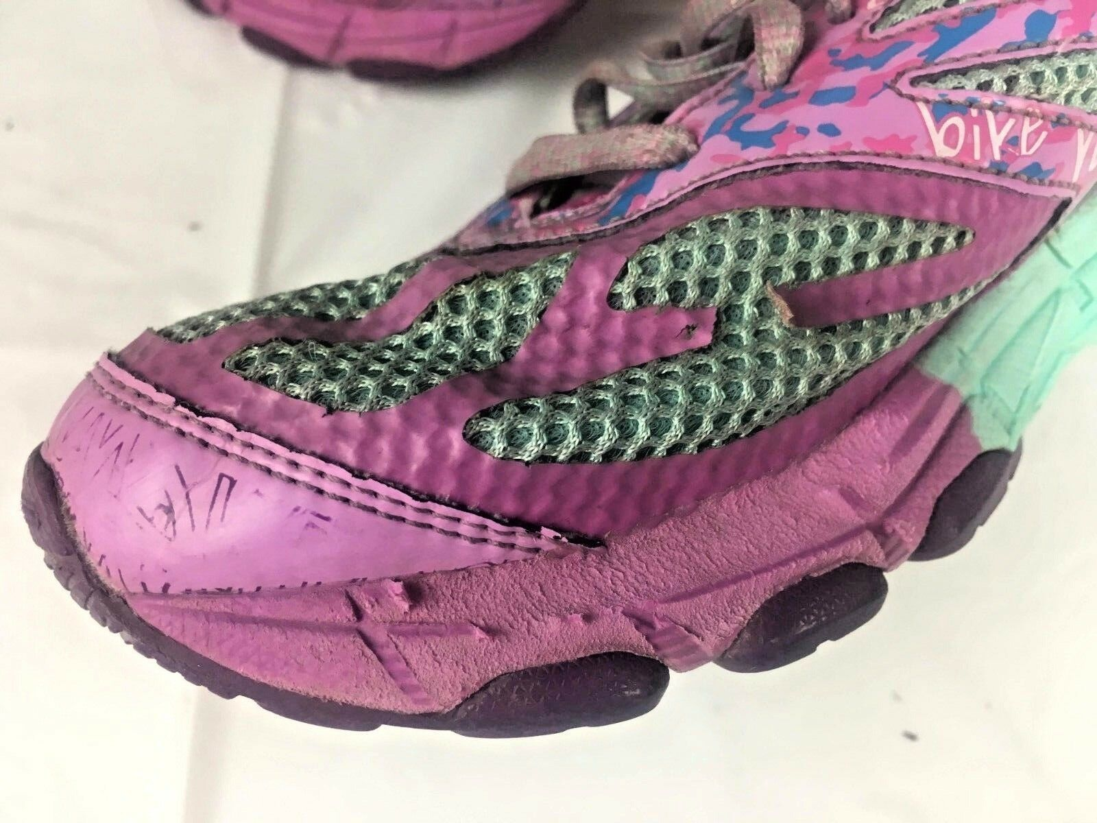 ASICS Gel Noosa Triathlon Shoes Ladies 6 Pink Blue Purple