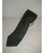 "BROOKS BROTHERS MAKERS MEN'S TIE PURE SILK GEOMETRIC BLUE GOLD 58"" X 3.7... - $6.85"