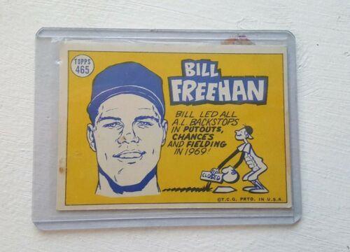 1970 Topps 465 Bill Freehan All star Detroit Tiger MLB Card Catcher Vintage