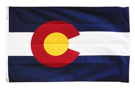 Colorado - 4'X6' Heavy Duty 2-Ply Polyester Flag - $86.40