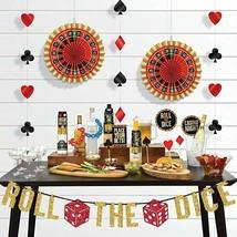 CASINO Night Bar Decorative Kit Party Banner ~29PCS~ Rulete Cupcake Red ... - $22.72