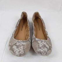 Women's Lucky Brand Faux Snakeskin Gray Suede Ballet Flats Sz 7.5 M - $28.04
