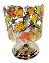 Bath & Body Works Colorful Leaves Pedestal 3 Wick Candle Holder New With Tags - $28.70