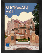 "Florida Gators ""Buckman Hall"" 13 x 16 Art Deco Framed Print  - $39.95"