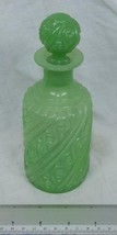 Portieux Vallerysthal PV France Green Jadeite Glass Apothecary Vanity Ja... - $94.04