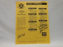 Dick Clark SIGNED American Bandstand Restaurant Flyer - Music Datebook A... - $98.95