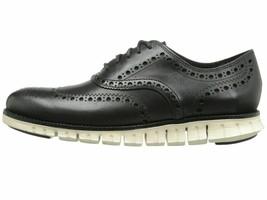 Cole Haan Zerogrand Wingtip Oxford Black Men's Leather C20720 - $159.00
