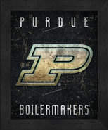 """Purdue Boilermakers """"Retro College Logo Map"""" 13x16 Framed Print  - $39.95"""