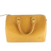Louis Vuitton Vintage Yellow Epi  Speedy 25 Bag - $399.00