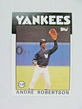 Andre Robertson New York Yankees 1986 Topps Baseball Card Number 738 - $0.98