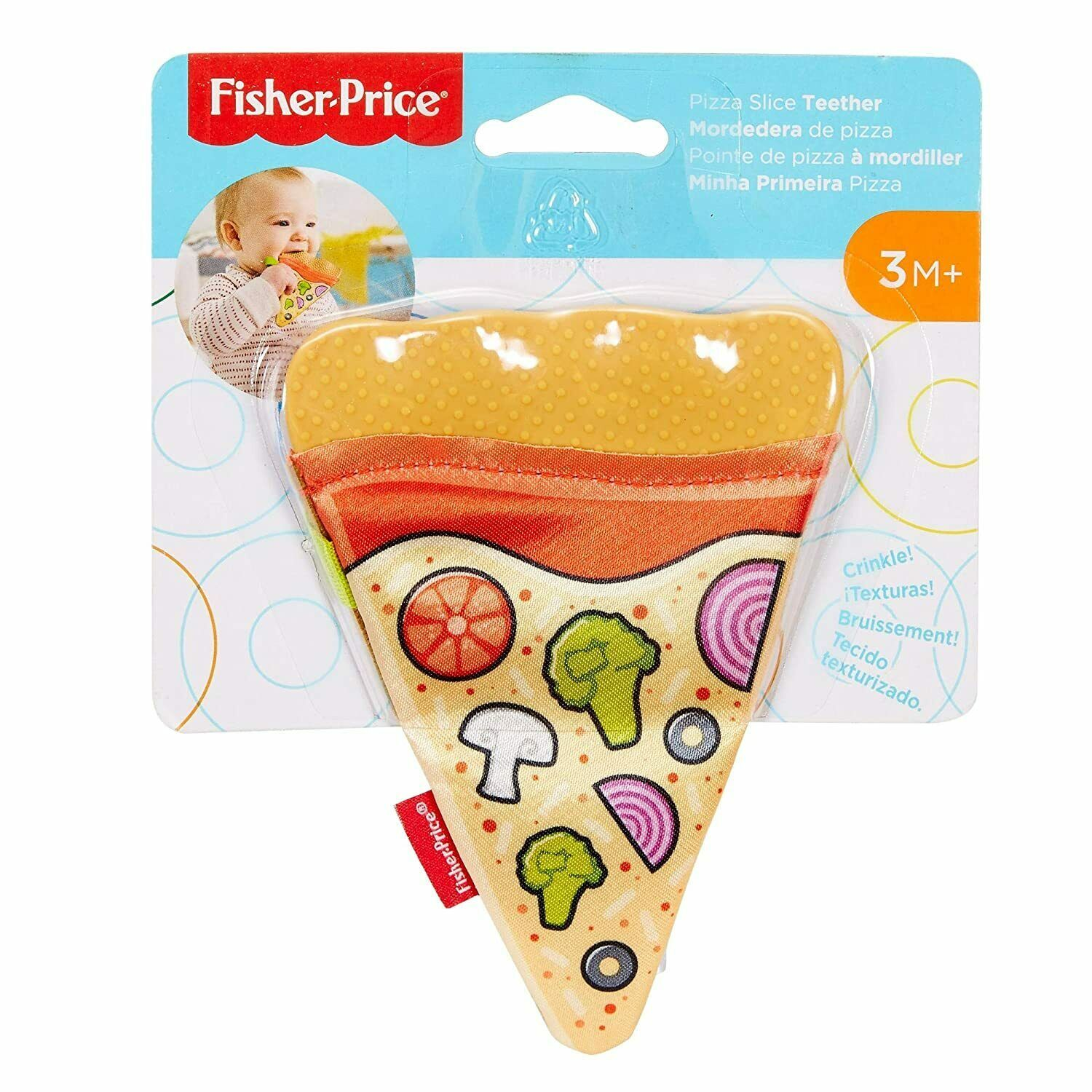 Fisher-Price Pizza Slice Infant Teether 3 Months +, Factory Packaging, Free Ship - $5.45
