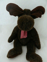 "Wildwood Moose beanbag Plush 14"" to 16"" Vintage Russ Berrie Dark Brown C... - $16.82"