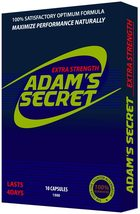 ADAMS SECRET 1500 100% Natural Pills, Energy, and Endurance 10 Pills Per... - $96.99