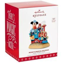 Mickey's Magical Railroad 2017 Hallmark Disney Magic Ornament Train Loco... - $46.50