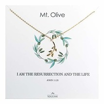 Soulink Dainty Olive Leaf Necklace Necklace Jewely (Yellow Gold) - $24.09
