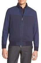Vince Camuto VK070S Men's Dress Blues Mixed Media Bomber Flight Jacket Coat - $44.99