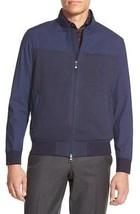 Vince Camuto VK070S Men's Dress Blues Mixed Media Bomber Flight Jacket Coat - $42.39