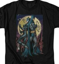 Batman  Catwoman t-shirt retro DC comics black cotton graphic tee BM2258 image 3
