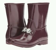 Michael Kors Leslie Rainboot Plum Size 8 EU 38.5 - $130.00