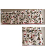 Waverly Orchard trail valance red gingham trim  - $18.50