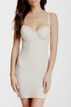 Skinny Girl Shapewear Laser Cut Shaping Slip Dress Womens Small Leopard ... - $38.69