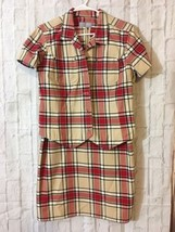 Liz Claiborne First Issue Sport Dress  Jacket/shirt  Suit Size 12 Plaid  - $49.49
