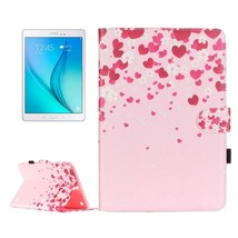 For Galaxy Tab A 9.7 Love Leather Case with Holder, Card Slots & Wallet - $16.69