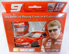 Bill Elliott NASCAR Playing Cards (2 decks) in Collectable Tin (2002), NIB - $5.99