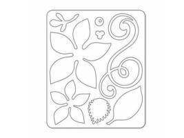 Sizzix Sizzlits Poinsettia Swirls Die Set #658733 image 2