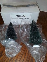 Department 56 Village Frosted Topiary Trees (set of 2)  #56.52000 Used open Box - $12.16