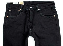 NEW LEVI'S 501 MEN'S ORIGINAL FIT STRAIGHT LEG JEANS BUTTON FLY BLACK 501-0660 image 2