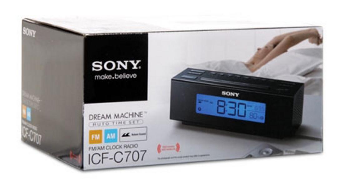 Sony ICF-C707 Dream Machine Alarm-Clock Radio w/ Natures Sound Sleepping Aide (S