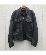 Vintage Harley-Davidson Mens Leather Riding Jacket 42 Regular Inter Quil... - $225.00