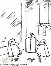 Ape Picks up Dry Cleaning. Original Signed Cartoon by Walter Moore - $9.54