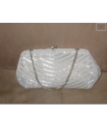 1950's Vintage OFF-WHITE Beaded Evening Bag Purse - $75.24