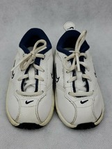 Nike white blue Boys Baby/ Toddler Kids Shoes Size 4C - $19.99