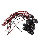 10 x Battery holder 9V Block battery soft Leather 150mm Cable red/sw - $14.85