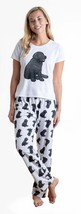 Dog Black Labrador pajama set with pants for women Lab - $35.00
