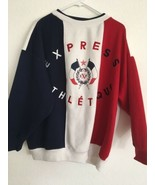 Express Athletique Jeans 65% Polyester 35% Cot Crew Sweatshirt Color Blo... - $114.00