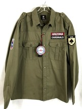 Arizona Cardinals Mens NFL Military Shirt NEW 100% Cotton w Team Logo Patch XL - $55.84