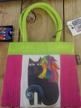 Laurel Burch Ebony cat with parrot retired small purse bag or girls purs... - $9.95