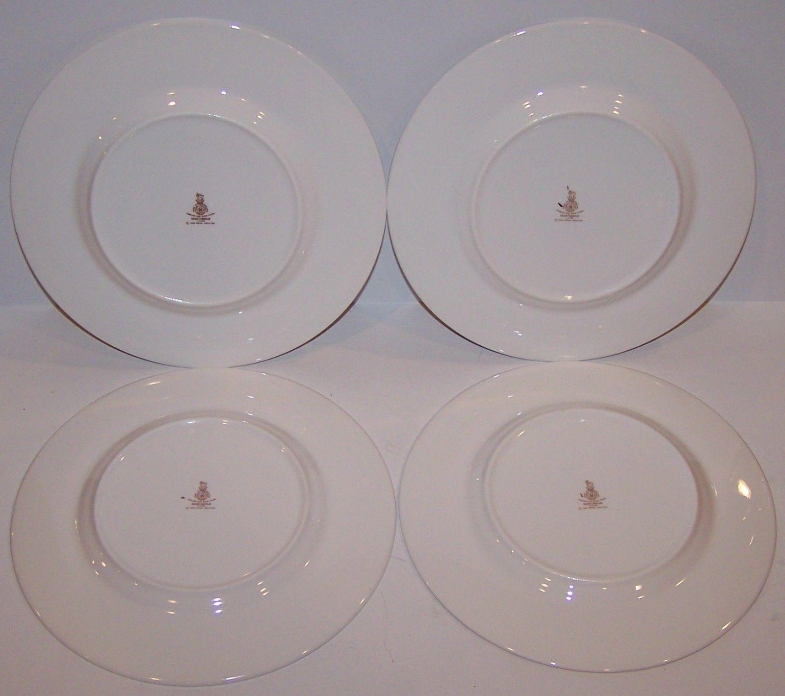 SET OF 4  ROYAL DOULTON THISTLEDOWN SALAD PLATES