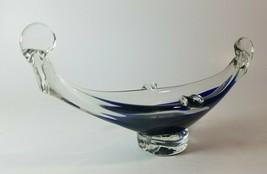 """VTG Murano Art Studio Glass Deco-Style Cobalt Gondola Ashtray/Bowl: 8""""Lx... - $30.96"""