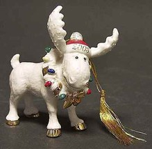 Lenox 2003 Moose Ornament Annual Moosechief Marcel Christmas RARE NEW IN BOX COA - $108.50