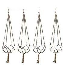 Plant Hanger, 4 Pieces Hanging Planter Flower Pot Plant Holder Basket Ju... - $218,95 MXN