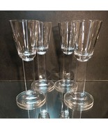 4 (Four) MIKASA FREE SPIRIT CLEAR Lead Crystal Cordial Glasses Flat Stem - $24.56