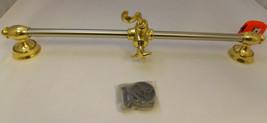 Andre Collection W25 Hand Shower Slide Adjust. Bar Polished Brass & Sati... - $175.00